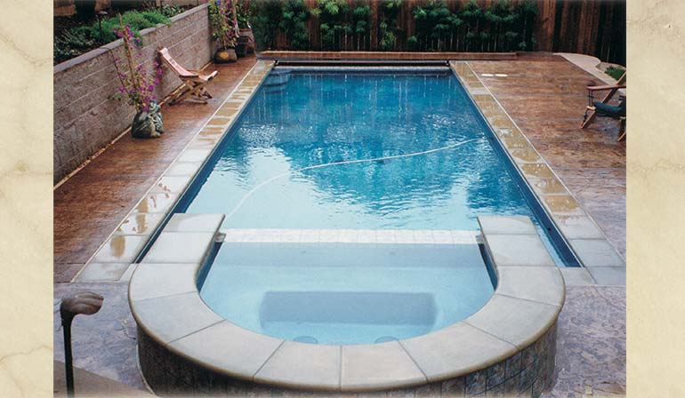 picture of pool with coping